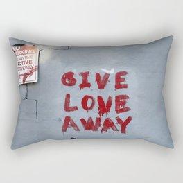 Give Love Away Rectangular Pillow