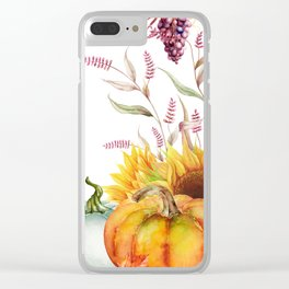Autumn Fields Clear iPhone Case