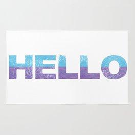 Bold Typography Design Hello Rug
