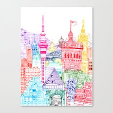 New Zealand Towers  Canvas Print