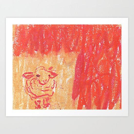 Red Days Art Print