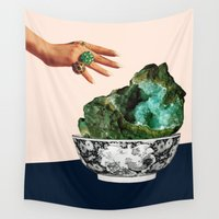 geode Wall Tapestries featuring GEODE by Beth Hoeckel