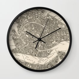 Vintage Map of Venice Italy (1764) Wall Clock