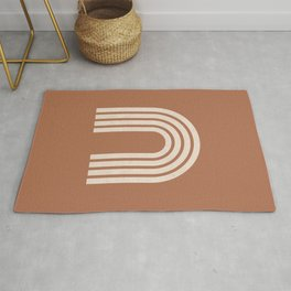 Woodblock arch terracotta Rug