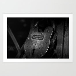 Rusty Lock in BW Art Print