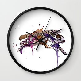 Geometric Hare Wall Clock