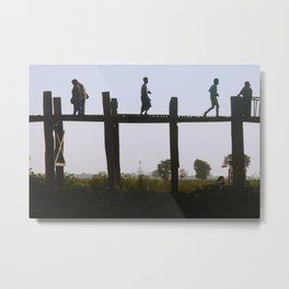 U Bein Crossing Metal Print