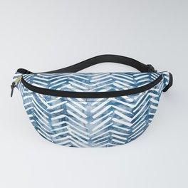 Boho Blue Shibori Tribal Pattern Fanny Pack