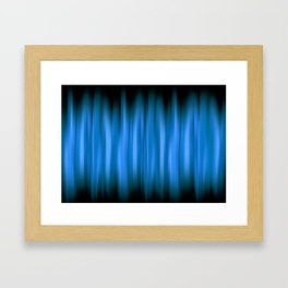 WARP SPEED   blue Framed Art Print