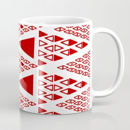 Zig Zag Pattern -  brick red Coffee Mug