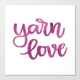 Yarn Love - Fuchsia Canvas Print