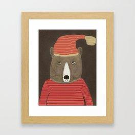 sutton bear Framed Art Print