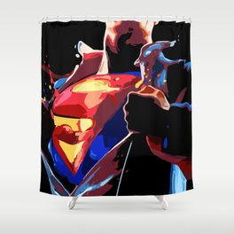 Superman - Secret Identity Shower Curtain