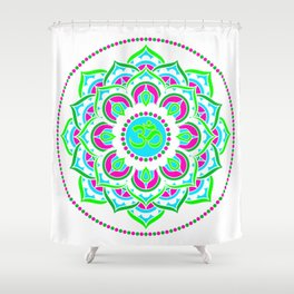Spring Mandala | Flower Mandhala Shower Curtain