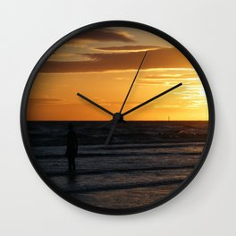Watching the Sunset Wall Clock