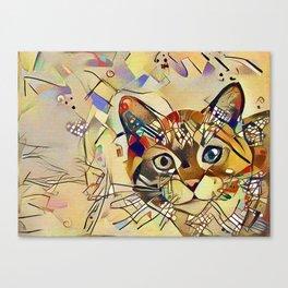 Cat Basil Canvas Print