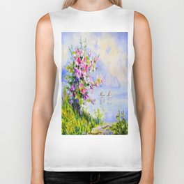 Spring in the mountains Biker Tank