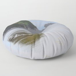 Illustrated Haystack Rock Floor Pillow