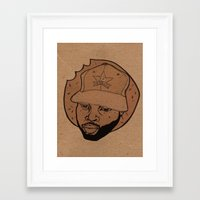 j dilla Framed Art Prints featuring dilla donuts by Rashida Chavis