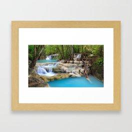 Erawan Falls Erawan National Park Kanchanaburi Thailand Ultra HD Framed Art Print