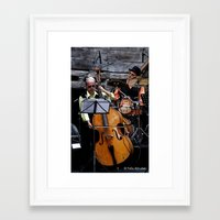 band Framed Art Prints featuring Band by AmAnthrAss