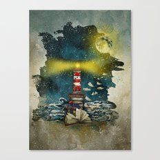 the sea is poetry Canvas Print