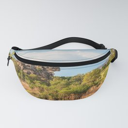 Almost typical Australian Landscape: green and gold Fanny Pack