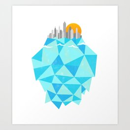 Floating Cities Art Print