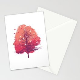Women Art Tree Forest Face Birds Stationery Cards