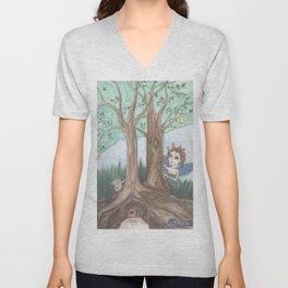 Faeries Unisex V-Neck