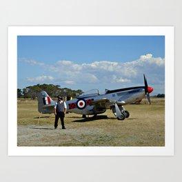Vintage Aircraft, Napier (New Zealand Collection) Art Print