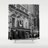 theatre Shower Curtains featuring The Loncre Theatre by Maria Goldaracena
