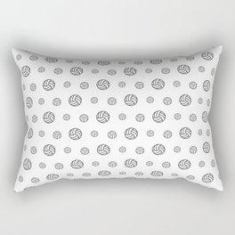 Volleyball sport pattern outline Rectangular Pillow
