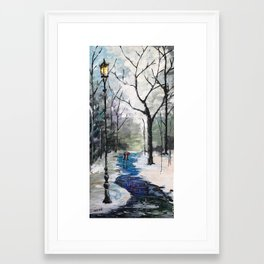 Baby Its Cold Outside Framed Art Print