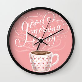Good Morning Lovely Wall Clock