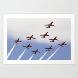 Flying Arrows  Art Print