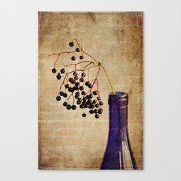 Berries in Cobalt Canvas Print