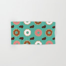 Coffee Beans and Donuts Hand & Bath Towel