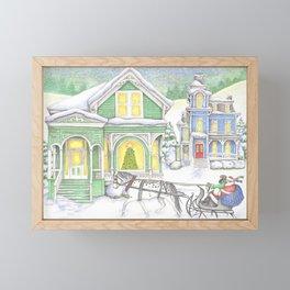 Green Christmas Framed Mini Art Print