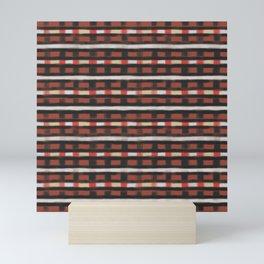 geo brush stripe square Mini Art Print