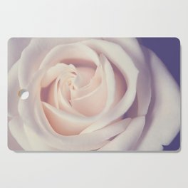 An Offering White Rose Cutting Board