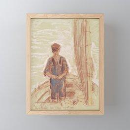 Fisherman, Isle of Shoals 1903 by Childe Hassam Framed Mini Art Print