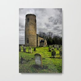 Gothic. Bulging, St John the Baptist. Metal Print