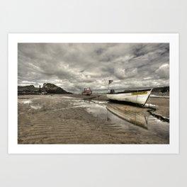 Boat at Bude  Art Print