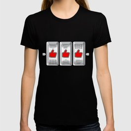 Jackpot / Slot machine hitting three thumbs up T-shirt