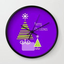 Merry violet Wall Clock