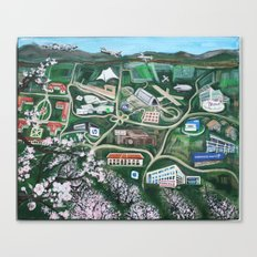 Silicon Valley Through TIme Canvas Print
