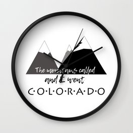 The Mountains Called Wall Clock