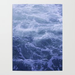 Blue Water Crashes at Lock 19 Poster