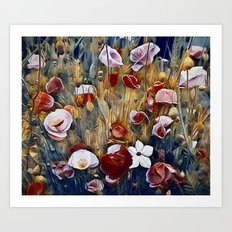 Poppies and Such Art Print